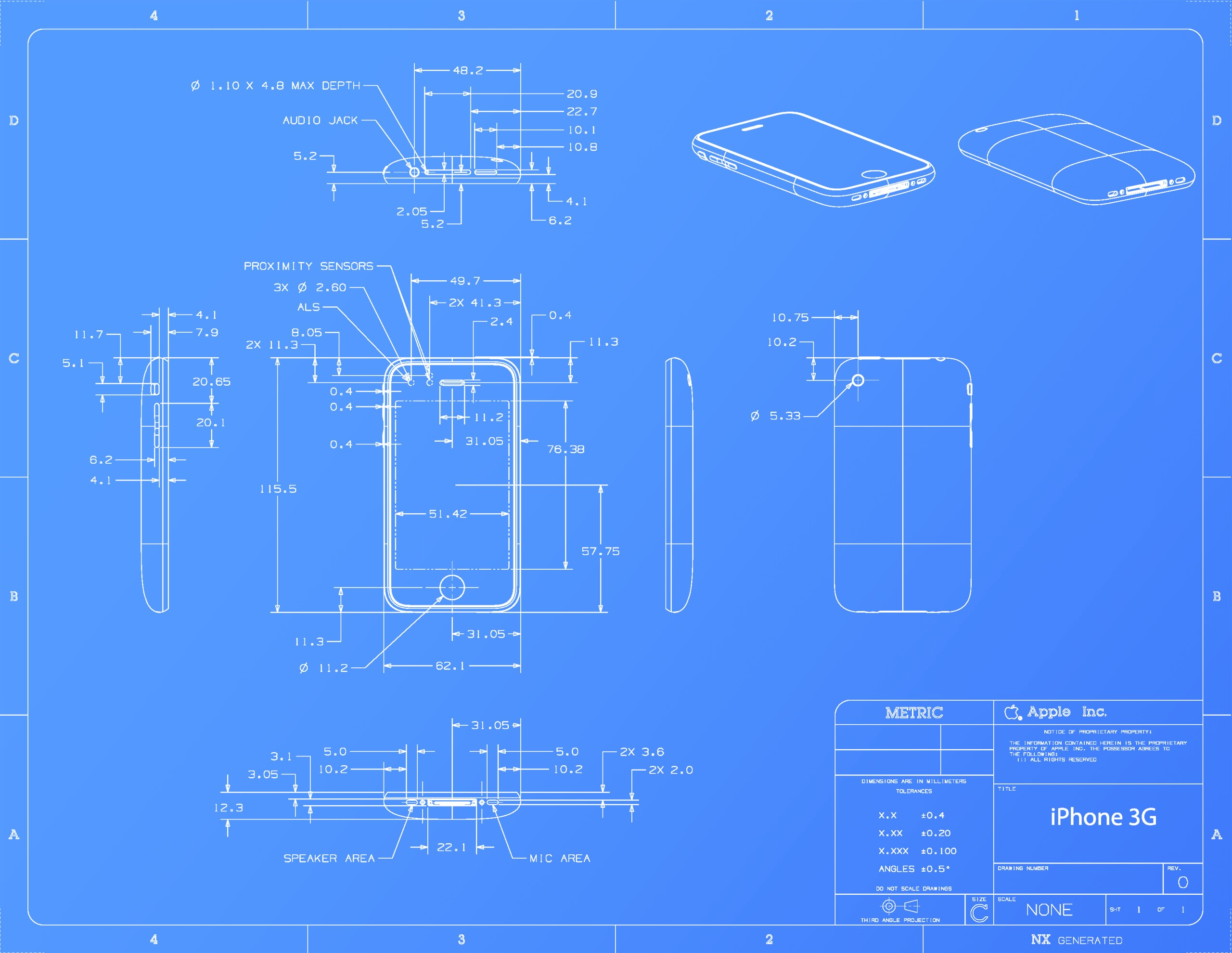 Iphone 3g Blueprint Wallpaper